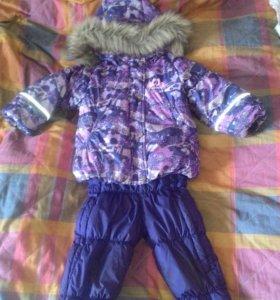 Huppa. Зим. комплект куртка + полукомб. для дев.