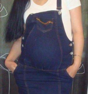 Джинсовый сарафан для беременных