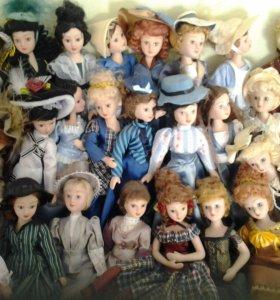 Куклы из фарфора 63шт.
