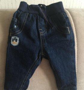 джинсы 0-3 мес