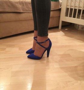 Синие замшевые туфли ASOS