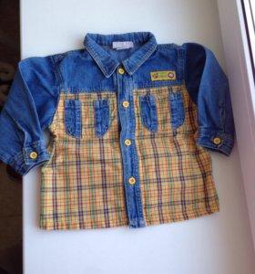 Джинсовая рубашка 86р.