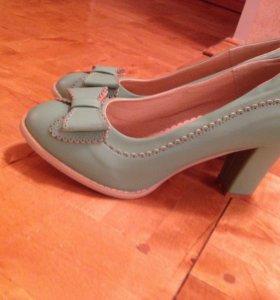Новые летние мятные туфельки