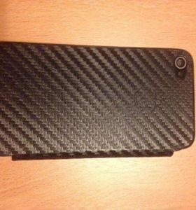 Карбоновый чехол iphone 4