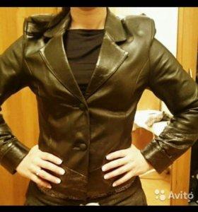 Пиджак натуральная кожа