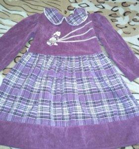 Платье детское вельветовое.