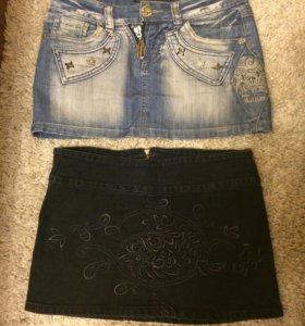 джинсовые юбки 42 размер