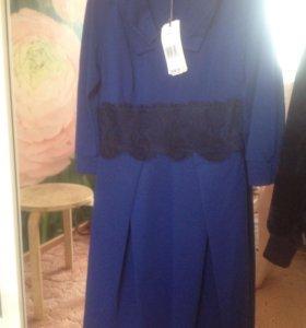 Синее платье стрейч