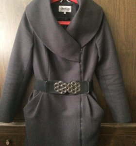 Пальто полупальто драповое шерстяное