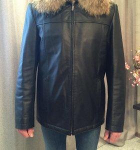 Продаётся новая кожаная куртка, натур. мех