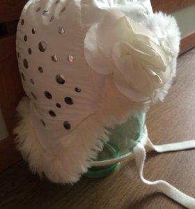 Зимняя шапочка на девочку pupill.