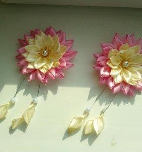 Заколки-цветочки для мамы и дочки!