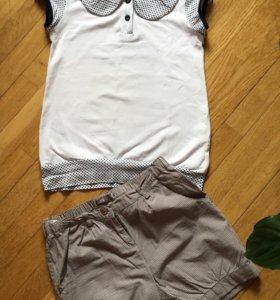 Комплект футболка+шорты 134р'