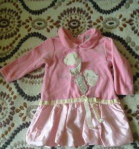 Платья для малышки, 74-80