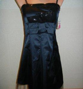 Платье новое 40-42 темно-синее