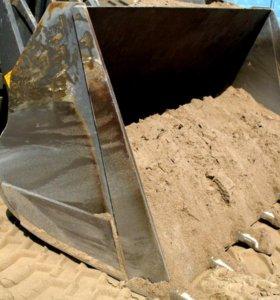 Песок,щебень, кирпич, грунт .Бобкет