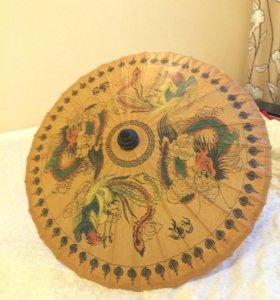 Зонт из бамбука и рисовой бумаги