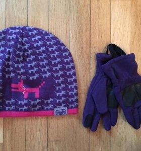 Шапка+перчатки 52-54р