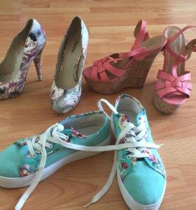 Три пары обуви 38 размера
