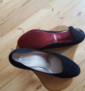 Новые замшевые туфли Gabor 7 (40)