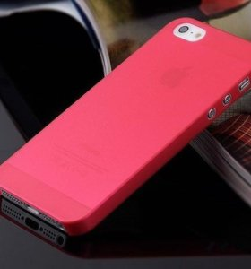 Чехол для iPhone 5 5s 5SE полупрозрачный матовый