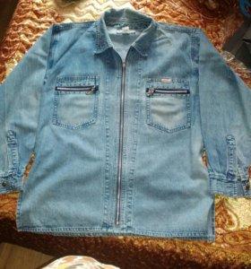 Джинсовая рубашка унисекс