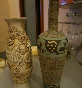Декоративная бутылка, ваза