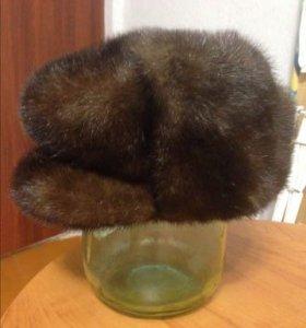 Норковая , зимняя шапка, формовка