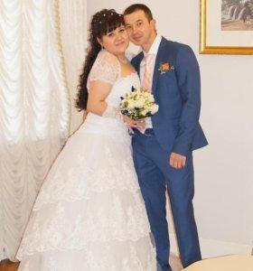 Свадебное платье размер 50-54