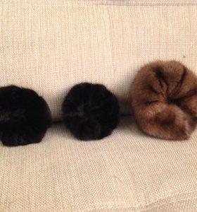 Меховые резинки для волос из норки