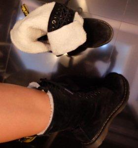 Ботинки замшевые 39-40