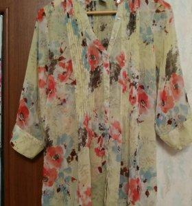 Блузка-рубашка 48-50р.р