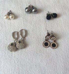 Серёжки и кулончик , браслет и ожерелье
