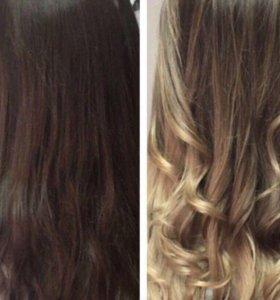 Окрашивание, наращивание волос
