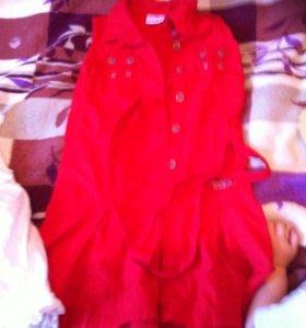 Платья и бриджи на девочку р122