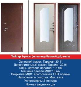 Стальная дверь с установкой Тайгер зеркало