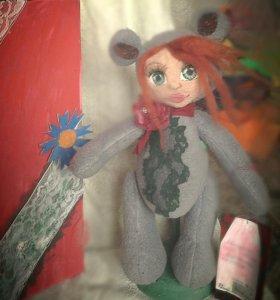 "Teddy doll авторская кукла ""Маргарита"" рост 30 см."