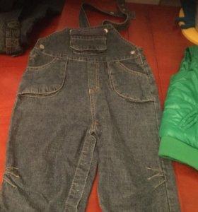 Полукомбинезон джинсовый р74-80