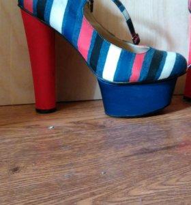 Туфли, каблук высокий, платформа