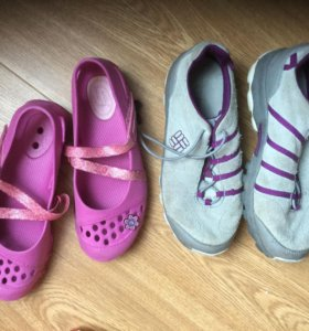 Кроссовки Colambia  плюс туфли р34