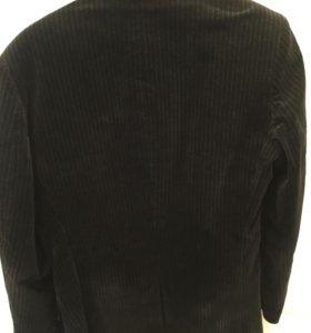 Пиджак шерстяной 48 размер, в полоску