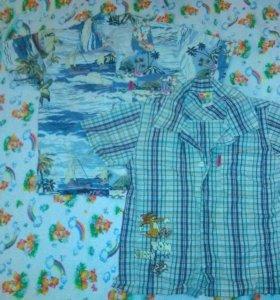 Летние рубашки на мальчика 4-6 лет