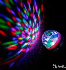 """Вращающаяся лампа / диско лампа для вечеринок """"led"""