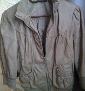 Куртка жен.кожаная.с рукавом 3четверти.