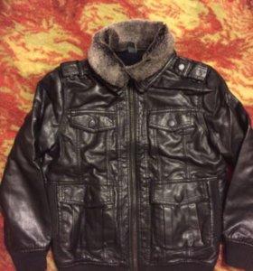 Чёрная куртка Zara на рост 140 см, 9-10 лет
