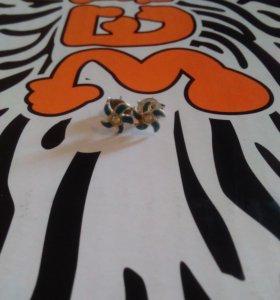 Серьги гвоздики цветочки милахи!