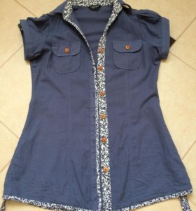 Хлопковая рубашка 42 размера