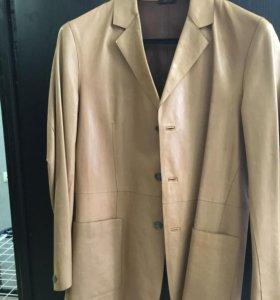 Пиджак из телячьей кожи Jil Sander