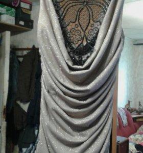 Вечерние платье стрейч золотое р 42-44