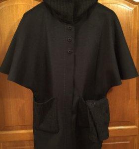 Пальто чёрное Delcorso Luxury